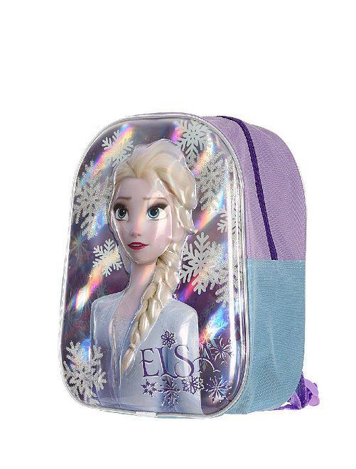 Mochila pequeña 'Frozen 2' con relieve                             azul/rosa