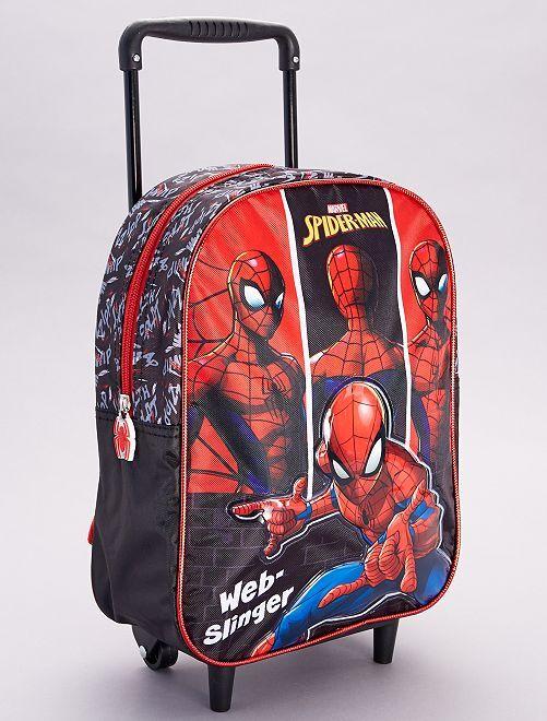Mochila ruedas 'Spider-Man'                             rojo/negro