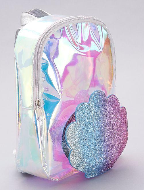 Mochila transparente                             multicolor