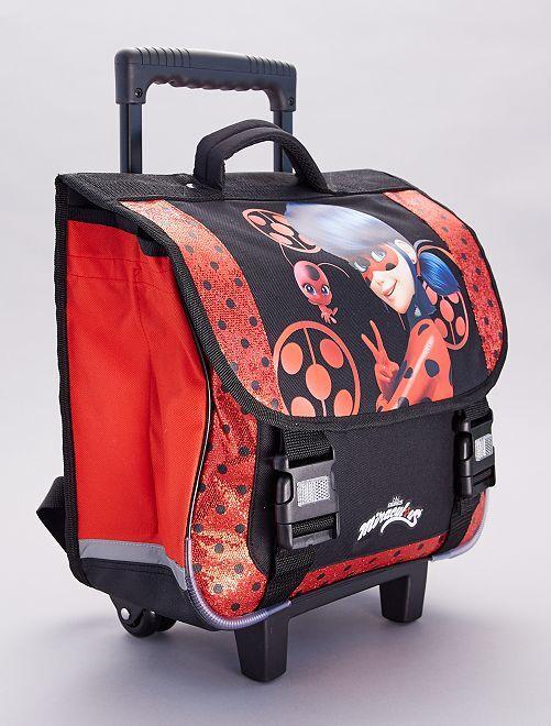 Mochila trolley grande                             rojo/negro