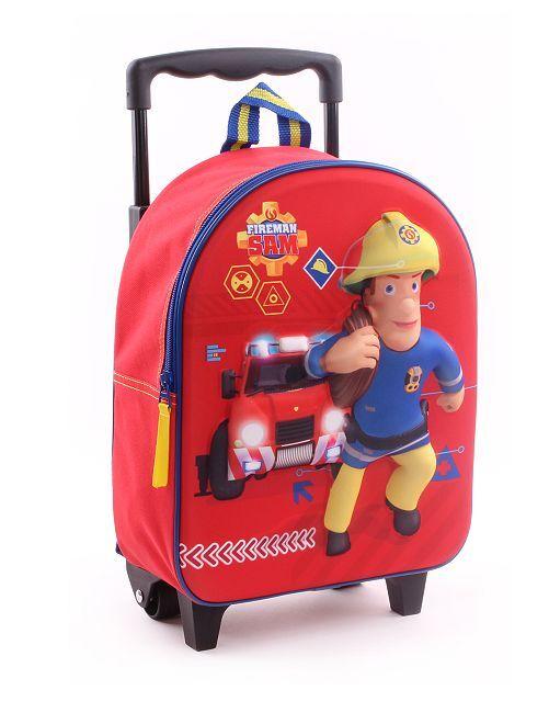 Mochila trolley 'Sam el bombero'                             rojo Chico