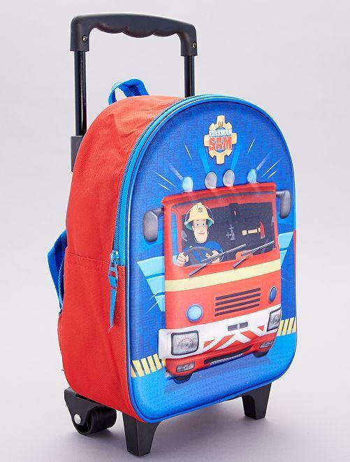 Mochila trolley 'Sam el bombero'                             rojo/azul