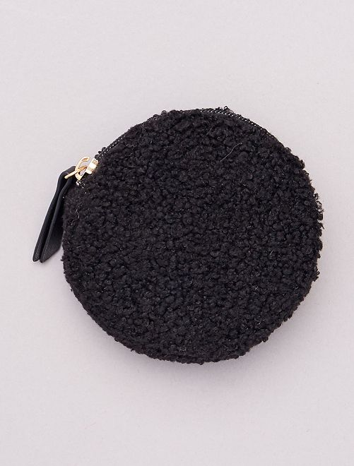 Monedero de borreguito                             negro
