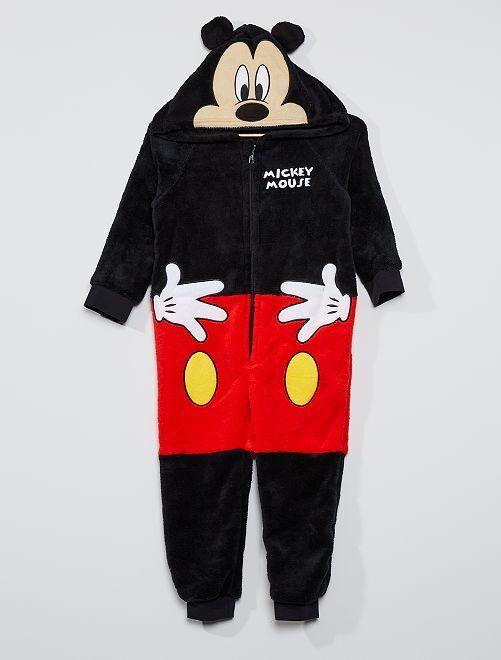 Mono con capucha 'Mickey'                             negro/rojo
