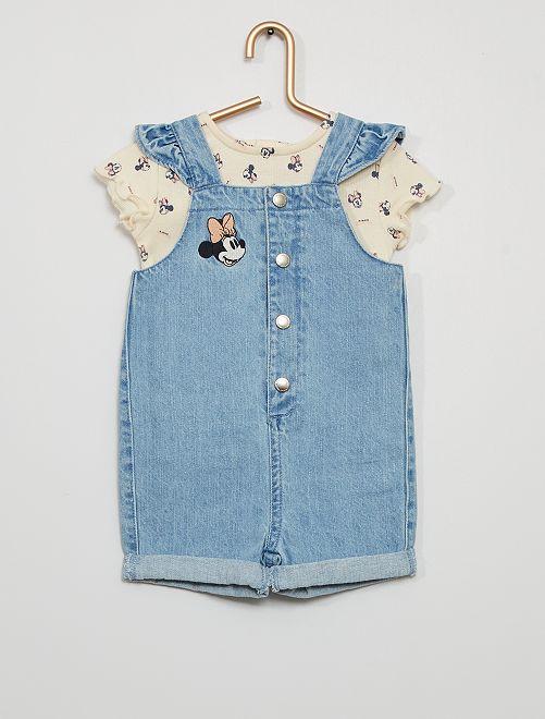 Mono corto + camiseta eco-concepción 'Minnie'                             BLANCO