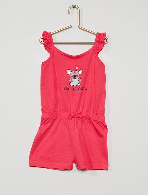 Mono corto de algodón                                         rosa
