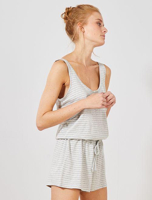 1cfd4e356dd1 Mono corto de pijama Lencería de la s a la xxl - GRIS - Kiabi - 10,00€