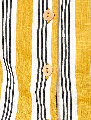 d73d519c ... Mono corto de rayas de algodón puro vista 7. Mono corto de rayas de algodón  puro AMARILLO Mujer talla 34 a 48