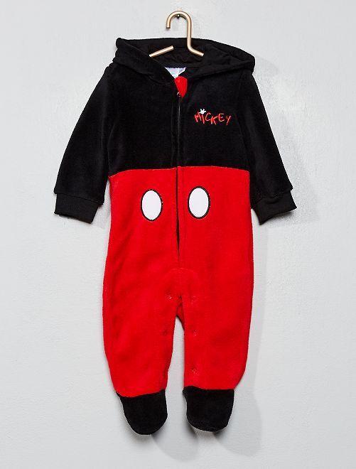 Mono de tejido polar 'Mickey'                             negro/rojo Bebé niño