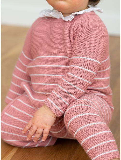 Mono 'La Manufacture de Layette'                                         a rayas rosa