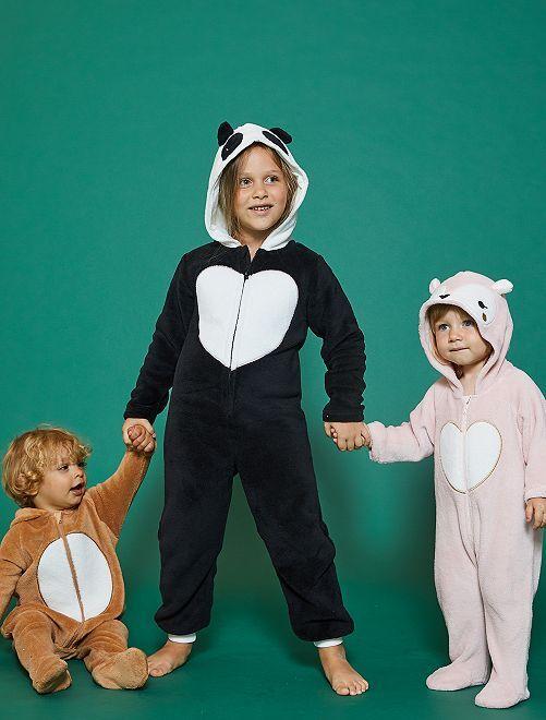 Mono 'panda' de felpa                             NEGRO