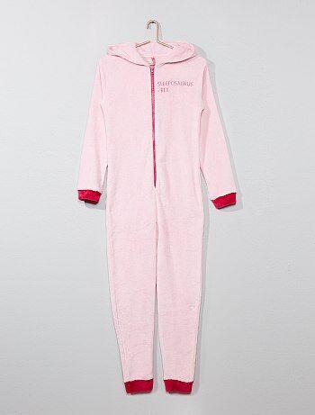 Niña 10-18 años - Mono pijama de tejido polar 'dinosaurio' - Kiabi