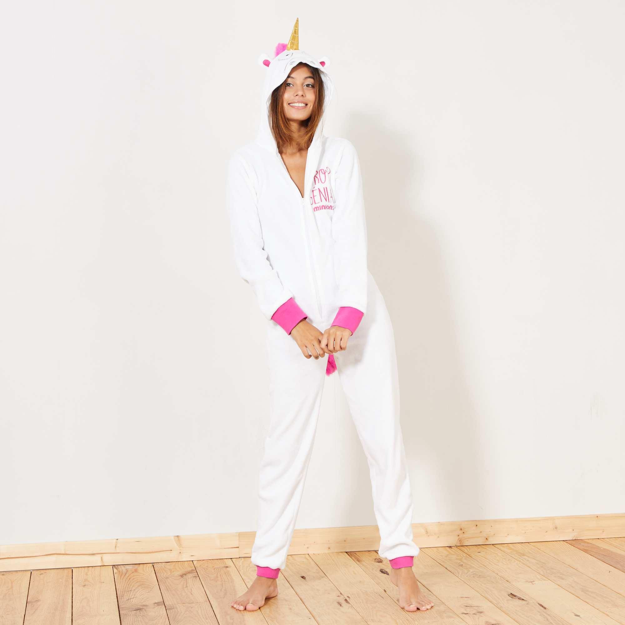 4809c5ea94d Mono pijama de unicornio Lencería de la s a la xxl - BLANCO - Kiabi ...