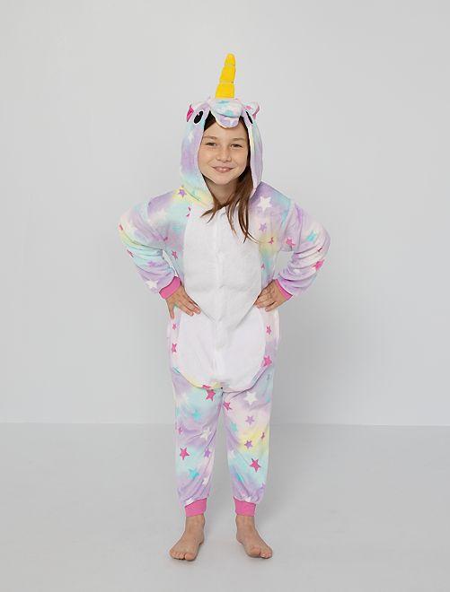 Mono pijama de 'unicornio'                             multicolor