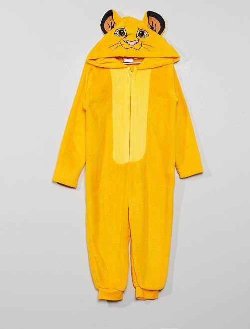 Mono pijama 'El rey león'                             amarillo