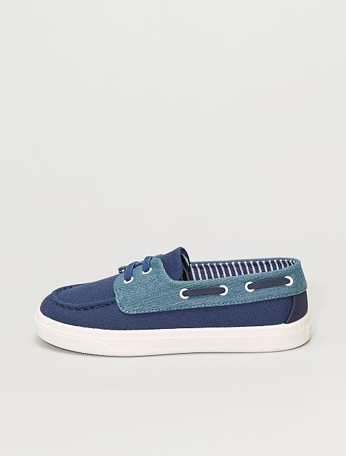 Náuticos de tela                             azul navy