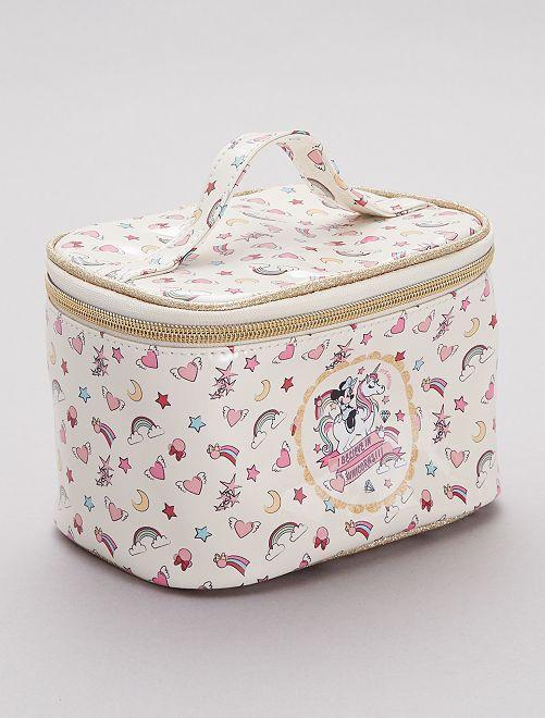 Neceser tipo maletín con estampado exótico 'Minnie'                                         crudo Chica