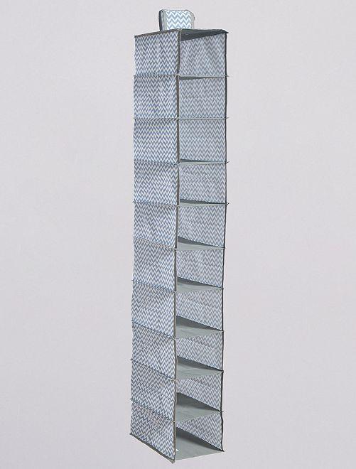 Organizador de tela para para zapatos con 10 huecos                                                     GRIS