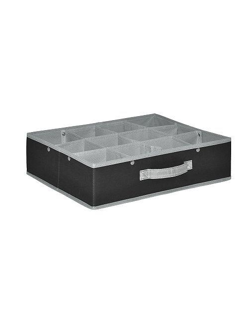 Organizador plegable de 12 compartimentos                             gris antracita/gris