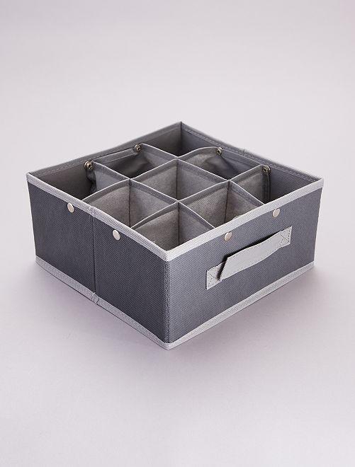 Organizador plegable de 9 compartimentos                             gris antracita/gris