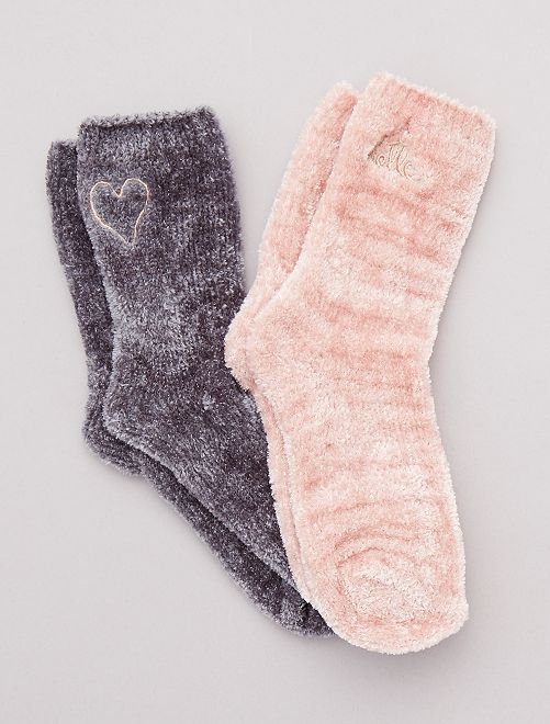 Pack 2 pares de calcetines cálidos                                         gris