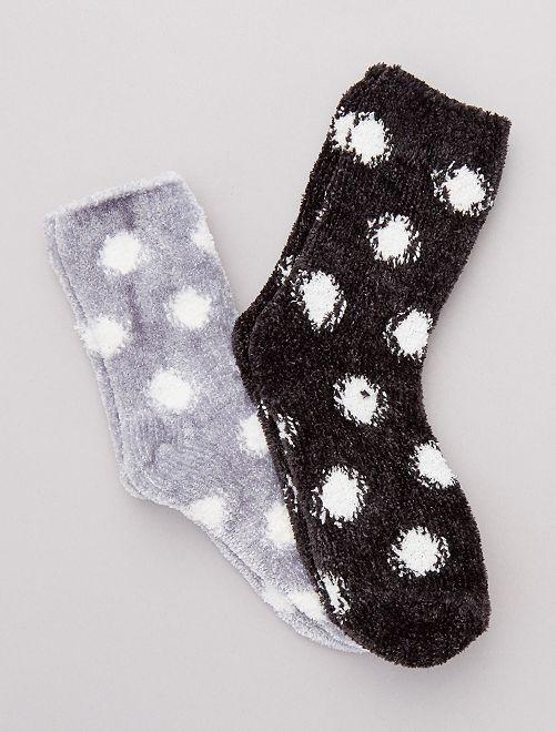 Pack 2 pares de calcetines cálidos                                         negro