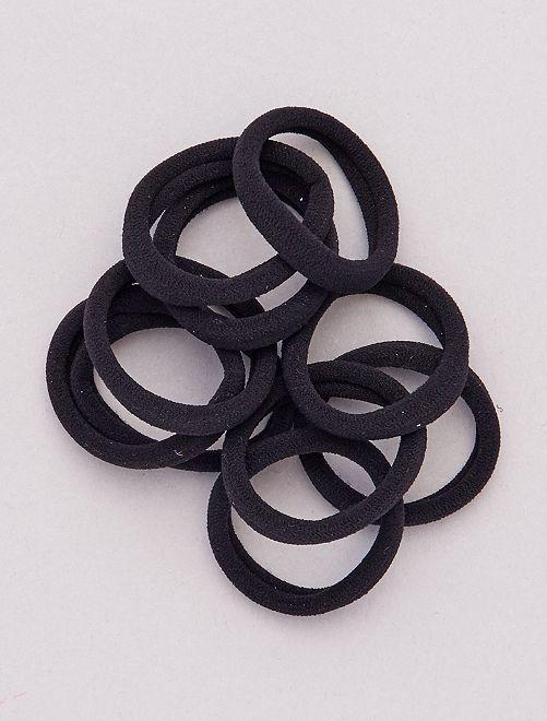 Pack de 10 gomas para el pelo                                                     negro