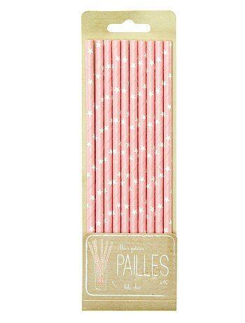 Decoración, complementos - Pack de 10 pajitas con estampado de fantasía - Kiabi
