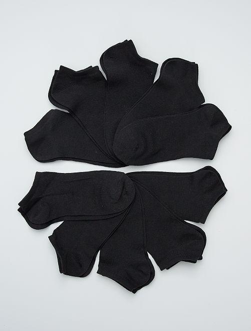 Pack de 10 pares de calcetines tobilleros                                         negro