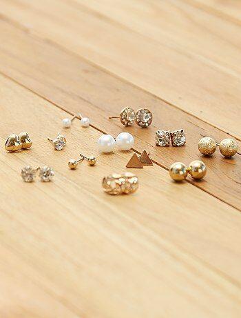 6cb12876256a Pack de 12 pendientes dorados - Kiabi
