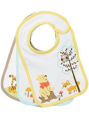 Niña 0-36 meses - Pack de 2 baberos 'Winnie The Pooh' - Kiabi