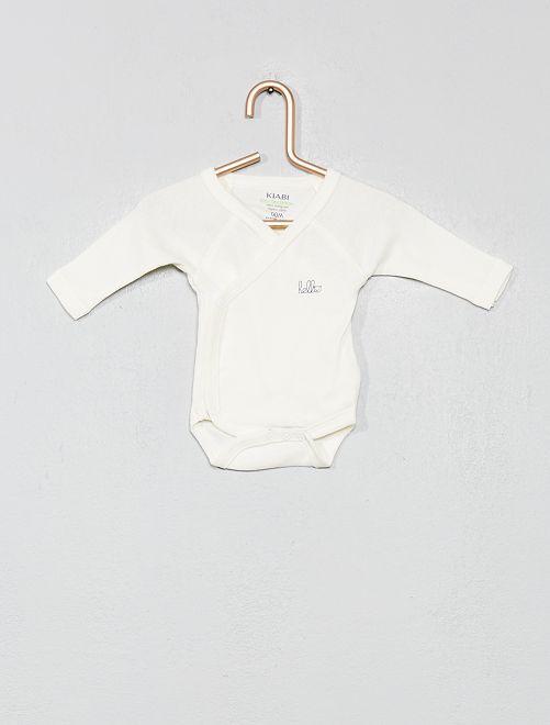 Pack de 2 bodies de algodón orgánico puro                                                                                         azul iris Bebé niño
