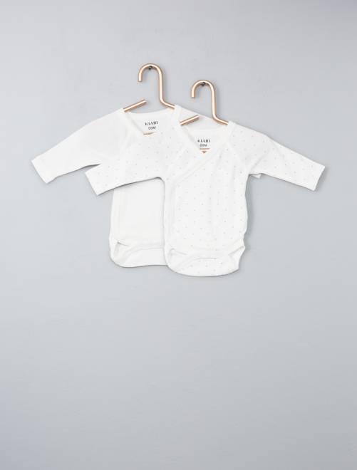 Pack de 2 bodies de algodón orgánico puro                                                         crudo