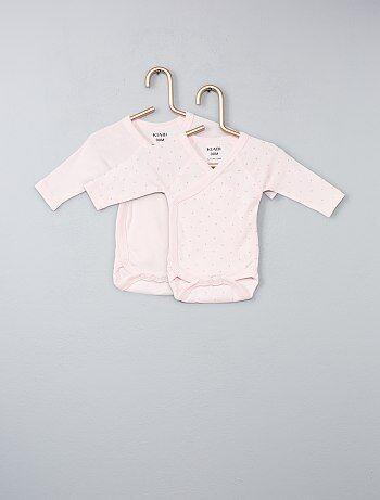 Pack de 2 bodies de algodón orgánico puro - Kiabi