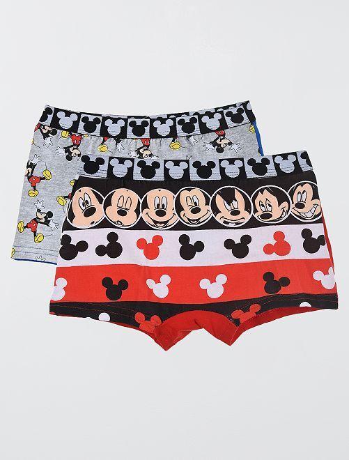 Pack de 2 boxers de 'Mickey'                                         AZUL/rojo