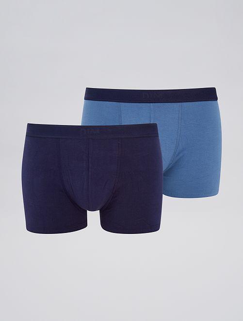 Pack de 2 boxers 'DIM' soft power                                         AZUL