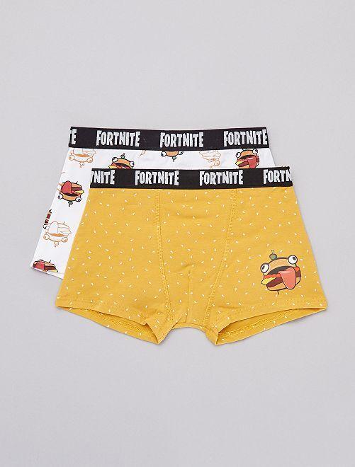 Pack de 2 boxers 'Fortnite'                             AMARILLO