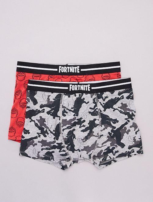 Pack de 2 boxers 'Fortnite'                             GRIS