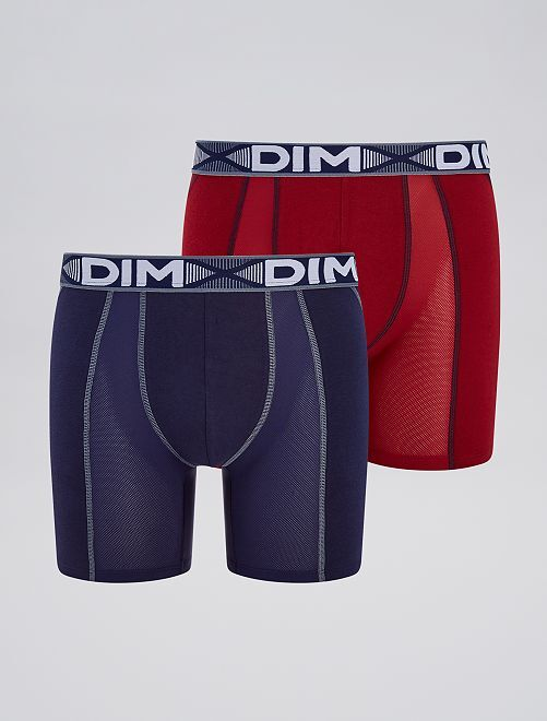 Pack de 2 boxers largos 'DIM 3D Flex Air'                                         ROJO