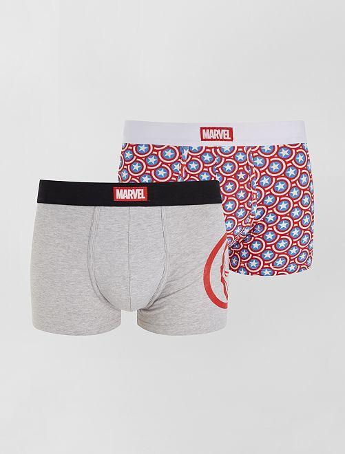 Pack de 2 boxers 'Marvel'                             GRIS