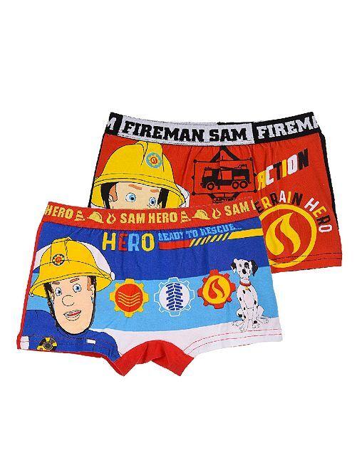 Pack de 2 bóxers 'Sam el bombero'                                         azul/negro