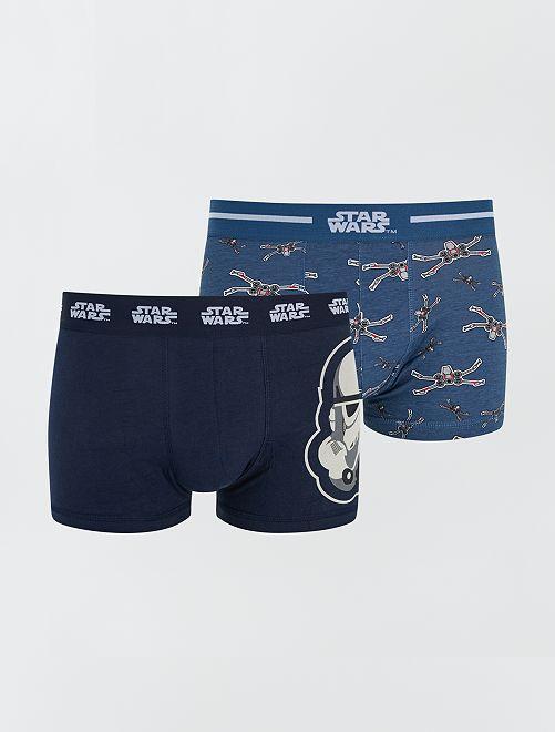 Pack de 2 boxers 'Star Wars'                                         AZUL