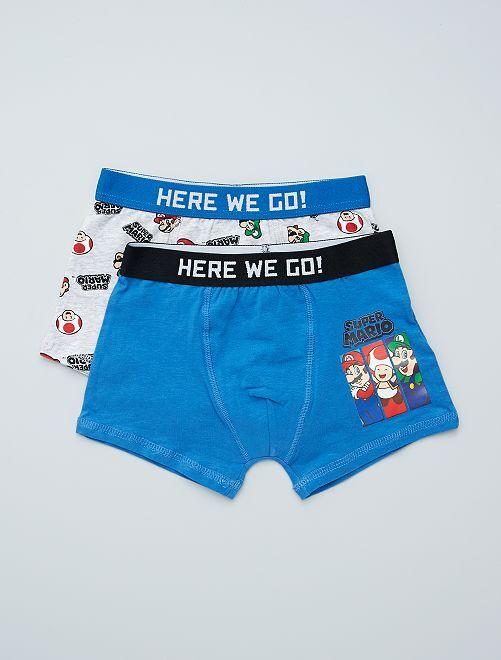 Pack de 2 boxers 'Super Mario'                             GRIS