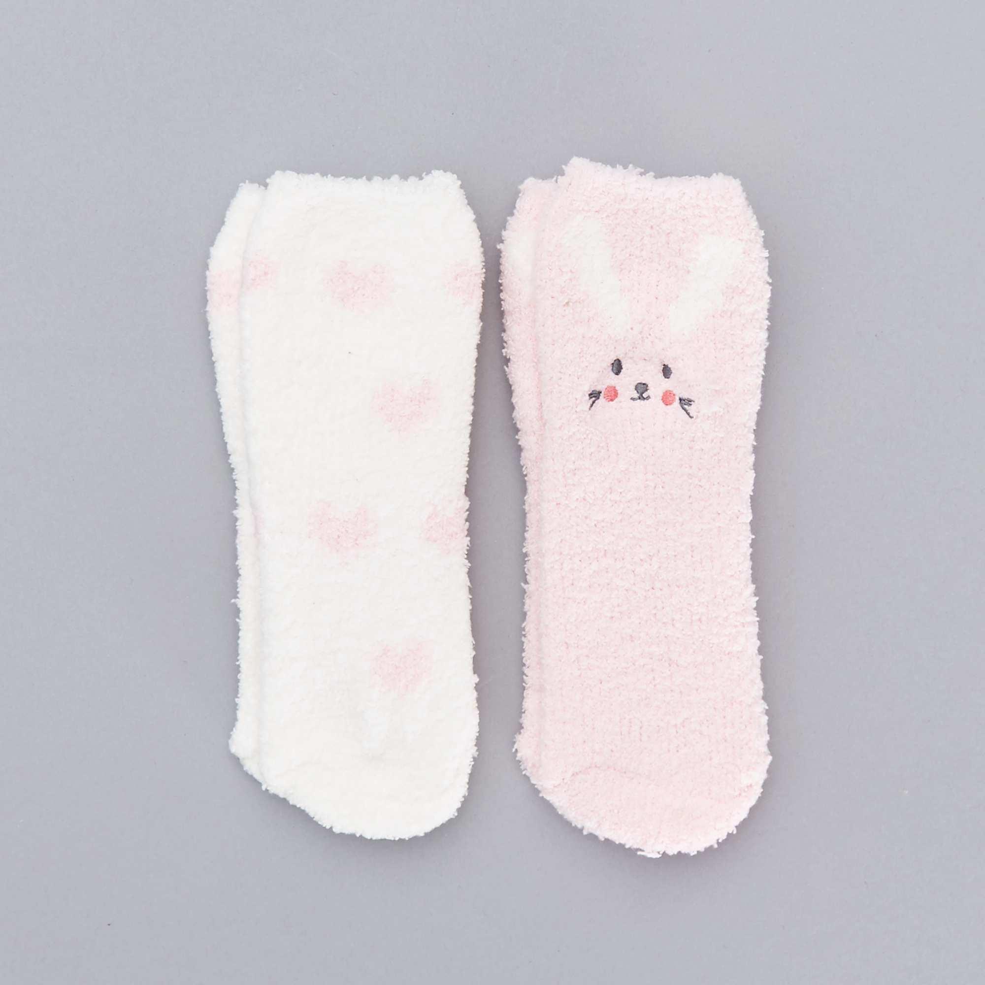 Pack de 2 calcetines tipo zapatillas de casa 39 conejo - Casa conejo ...