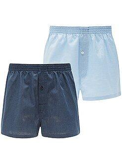 Hombre Pack de 2 calzoncillos de algodón