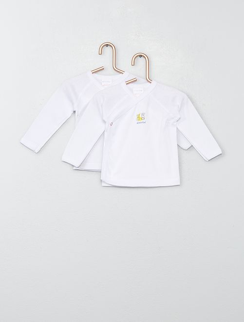Pack de 2 camisetas 'Absorba'                             BLANCO