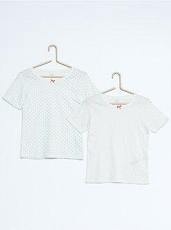 Niña 3-12 años Pack de 2 camisetas de algodón