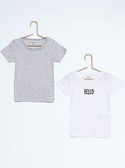Niño 4-12 años Pack de 2 camisetas de algodón