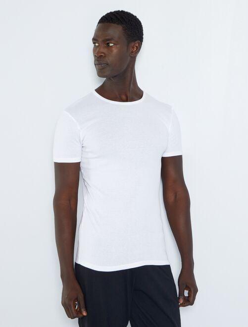 Pack de 2 camisetas de algodón orgánico                             blanco