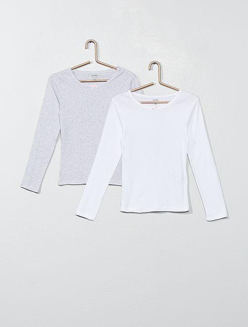 Pack de 2 camisetas de algodón orgánico                             GRIS